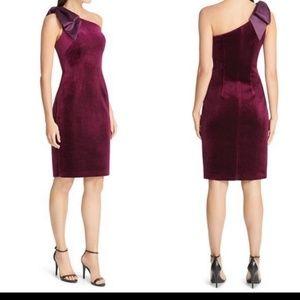 Eliza J sheath velvet dress